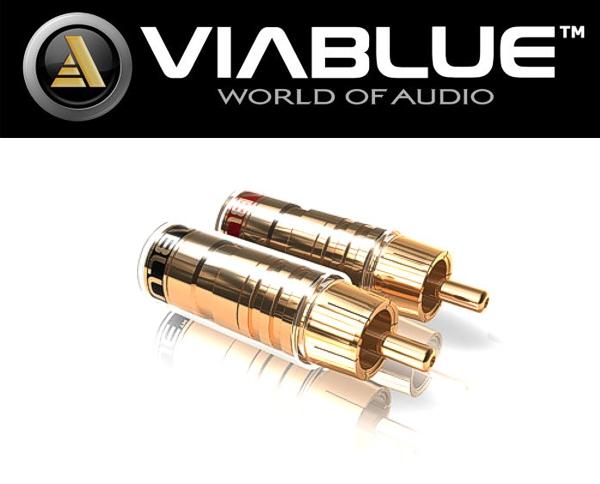 ViaBlue PREMIUM Cinch Stecker 2 Paar 4 Stück gold TS Cinchstecker