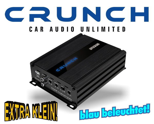 Crunch GTO Micro Auto Verstärker Endstufe GTO-2125 2x 250W