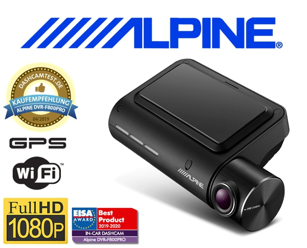 Alpine Dashcam Auto Kameraüberwachung DVR-F800PRO
