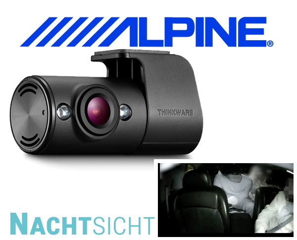 Alpine Dashcam Auto Kameraüberwachung RVC-I200IR Nachtsicht Innenraumkamera für DVR-F200
