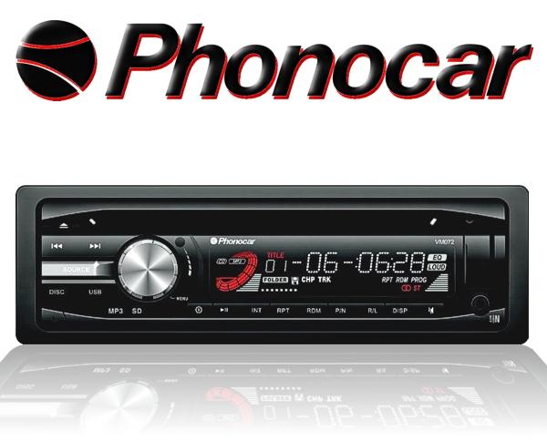 Phonocar DVD Player 1DIN 12V für Aiuto Lkw Bus uvm VM072