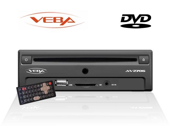 DVD Player 3/4DIN 12V für Aiuto Lkw Bus uvm Veba AV-2706