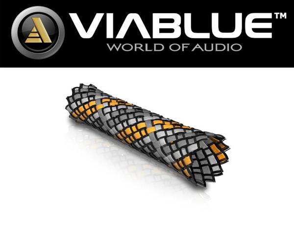 ViaBlue Geflechtschlauch Cable Sleeve Kabelschutzschlauch Orange Medium Meterware
