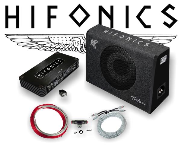 Hifonics 800 W Woofer 4-Kanal Car Hifi Set inkl. Endstufe + Kabelsatz