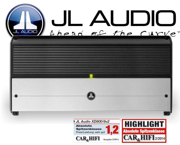 JL Audio Auto Verstärker XD-Serie Endstufe XD800/8v2 8x 75W