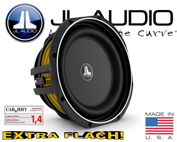 JL Audio Auto Subwoofer flach 300W 4ohm 10TW1-4