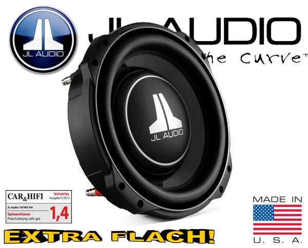 JL Audio Auto Subwoofer flach 400W 10TW3-D4