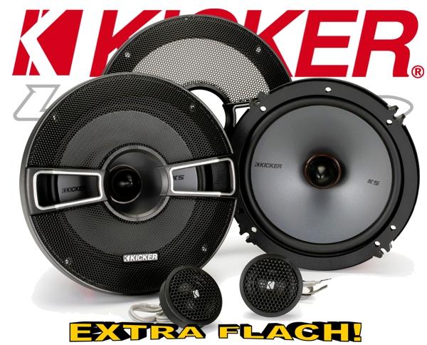 Kicker Auto Lautsprecher KS-Serie 2-Wege-System KSS674 165mm 250W