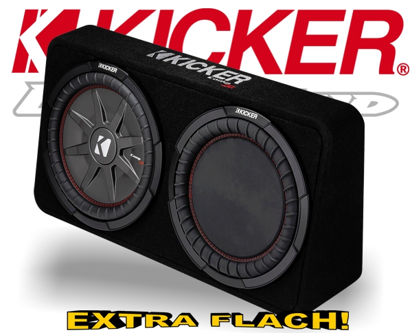 Kicker Subwoofer TComp RT122 flache Bassbox 1000W 2ohm