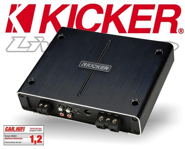 Kicker Auto Verstärker DSP Endstufe IQ500.1 1x 500W