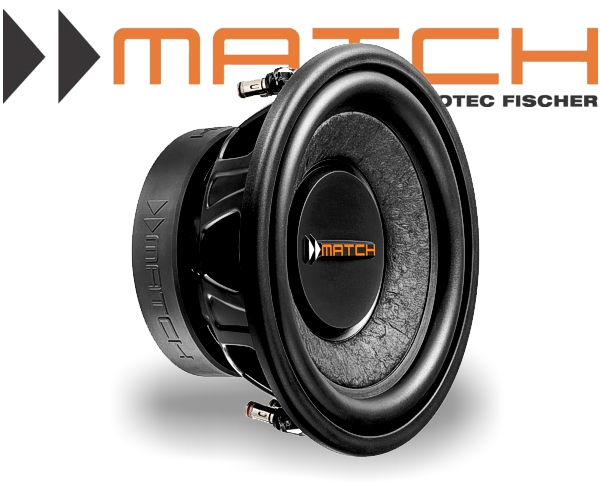 Match Subwoofer Auto Bass 250mm 300W MW10W-D