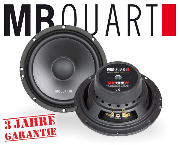 MB Quart Auto Subwoofer QS165W 165mm 180W