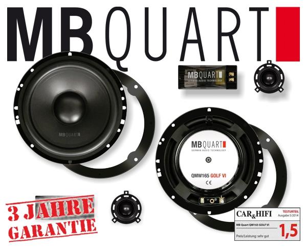 MB Quart Lautsprecher für VW QM-165 VW Golf 6 7 Scirocco 3 Polo 6R