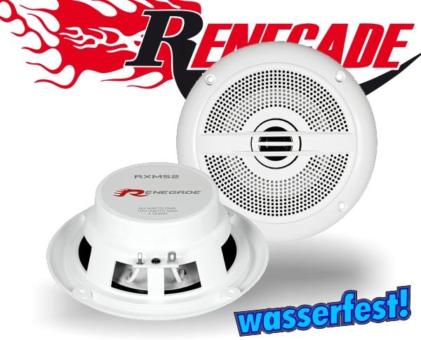 Renegade Marine Outdoor Lautsprecher 2-Wege-Koax RXM-52 13cm 120W