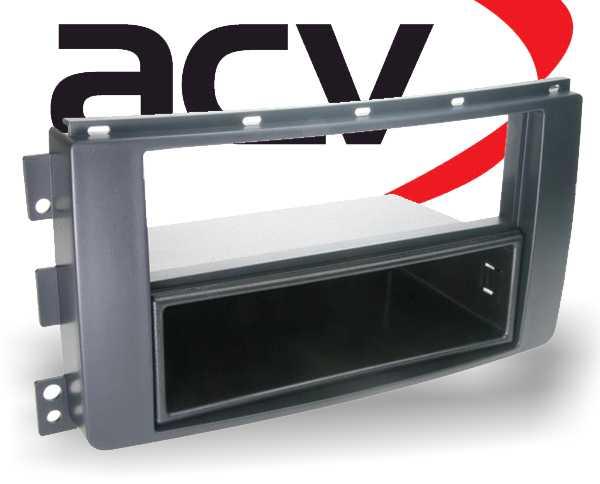 Radioblende Doppel-DIN mit Ablagefach Smart ForTwo 2004-2010 schwarz