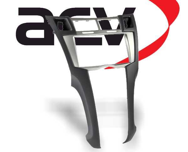 radioblende 2 din toyota yaris 2006 2011 silber. Black Bedroom Furniture Sets. Home Design Ideas