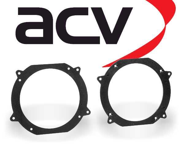 Lautsprecher Adapterringe für Volvo 740 760 850 940 960 Türe Front/Heck 130mm