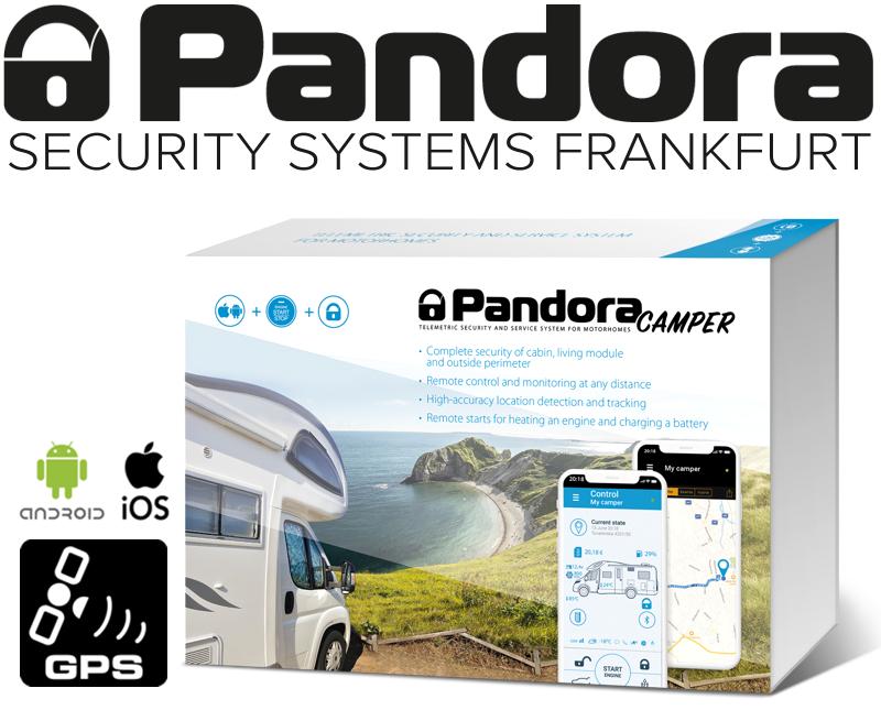 Pandora Wohnmobil Alarmanlage Camper Reisemobil Alarm mit Live-Ortung Handyalarm App Bluetooth
