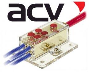 Verteilerblock 1x20/4x10 für Stromkabel / Powerkabel