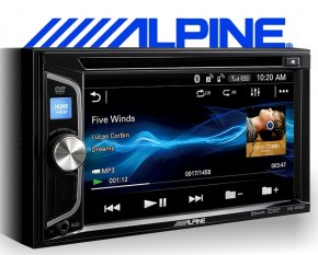 Alpine Autoradio IVE-W560BT mit DVD CD USB iPhone Steuerung Bluetooth