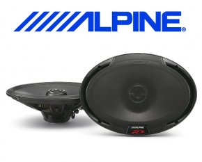 Alpine Auto Lautsprecher Koax 16x24cm 100W SPR-69