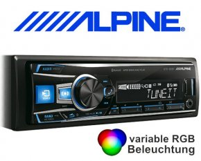 Alpine Autoradio UTE-92BT mit USB/iPhone/iPod-Anschluss Bluetooth