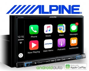 "Alpine Autoradio iLX-702D Apple Carplay Android 1-DIN 7"" Monitor mit DAB+ USB HDMI Bluetooth"