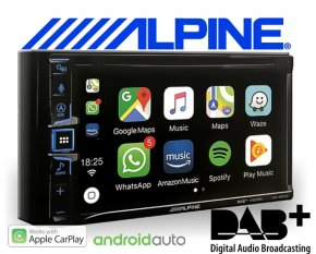 Alpine Navigationsgerät Autoradio INE-W611D mit USB/iPhone/iPod