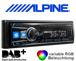 Alpine DAB+ Autoradio UTE-93DAB mit USB/iPhone/iPod-Anschluss Bluetooth