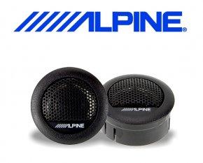 Alpine Auto Hochtöner Mini Hochton Lautsprecher 3cm 280W SXE-1006TW