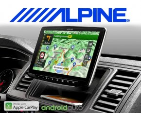 "Alpine Navigationssystem Halo 9 Autoradio INE-F904D Apple Carplay Android 1-DIN 9"" Monitor mit DAB+ USB HDMI Bluetooth"