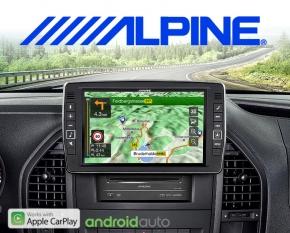 Alpine Premium Autoradio Navigation X903D-V447 für Mercedes Vito 447