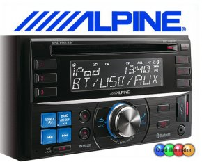 Alpine 2-DIN Autoradio CDE-W235BT mit CD/USB/iPhone/iPod und Bluetooth