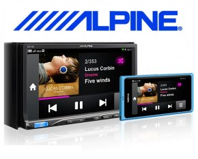 Alpine Autoradio ICS-X8 App Link Station mit DVD/CD/USB/iPhone/iPod