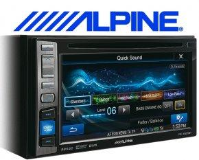 Alpine Autoradio IVE-W585BT mit DVD/CD/USB/iPhone/iPod Bluetooth