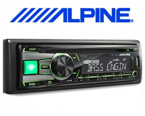 Alpine Autoradio CDE-181R mit CD/USB iPod/iPhone-Steuerung