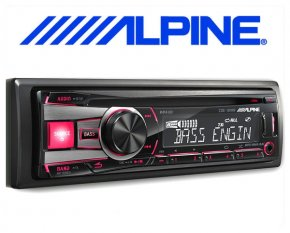 Alpine Autoradio CDE-181RR mit CD/USB iPod/iPhone-Steuerung