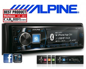Alpine Autoradio CDE-178BT mit CD/USB/iPhone/iPod Bluetooth Facebook