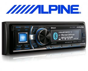 Alpine Autoradio CDA-137BTi mit CD USB iPhone iPod Bluetooth