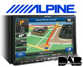 Alpine XXL Navigationsgerät / Autoradio X800D-U mit DAB+ USB/iPhone/iPod