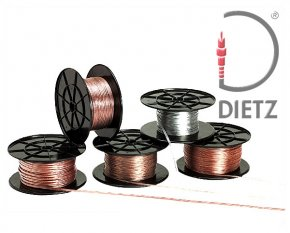 Lautsprecher-Kabel, 2x 1,5 mm² Vollkupfer Lautsprecherkabel transparent mit Markierung