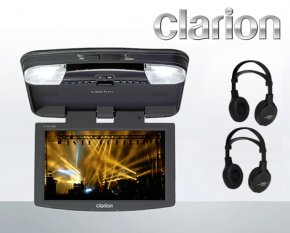 Clarion VT1010E 10,2 LCD/TFT Deckenmonitor mit DVD-Player