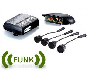 Funk Einparkhilfe Parksensoren mit Funk Display Front od. Heck Stossstange PS4LCDF