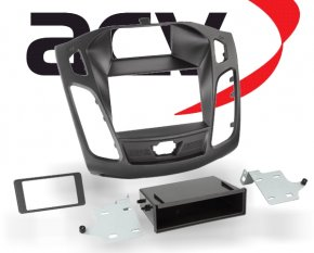 Radioblende Doppel-DIN Einbaukit Ford Focus schwarz