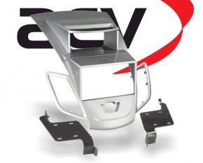 Doppel-DIN Einbaukit für Doppel-DIN Geräte Ford Fiesta silber Typ2
