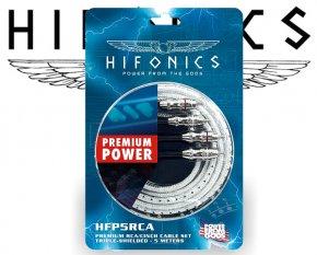 HIFONICS Cinch-Kabel - 5m - 3-fach abgeschirmt HFP5-RCA PREMIUM