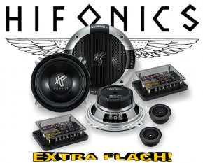 Hifonics 2-Wege Auto Lautsprecher System TR5.2C extra flach!
