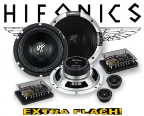 Hifonics 2-Wege Auto Lautsprecher System TR6.2C extra flach!