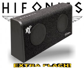 Hifonics Triton Subwoofer Bassreflex TRS-165.2 extra flach