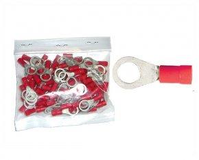 Kabelschuhe Ring 6,4mm rot 100 Stück